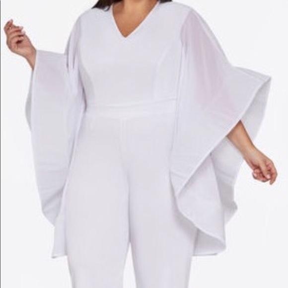 Plus Size White Jumpsuit NWT